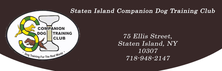 Staten Island Companion Dog Training Club, Inc.75 Ellis Street, Staten Island, NY 10307  718-948-2147
